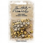 Tim Holtz Jingle Brads - Bells - 28 st