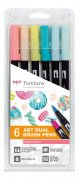 Tombow Dual Brush Pens - Candy Colors - 6 st