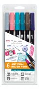 Tombow Dual Brush Pens - Vintage Colors - 6 st