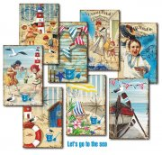 Vintage Bilder - Die Cuts - Lets Go to the Sea - 24 ark