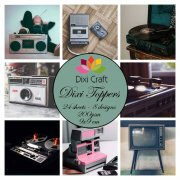 Toppers Dixi Crafts - Retro Music