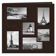 "Album 12""x12"" Pioneer - Sewn Embossed Collage Frame - Travel"