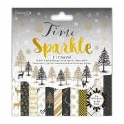 "Paper Pad 8""x8"" - Time To Sparkle by Dovecraft - 36 ark"