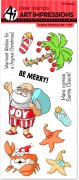 Art Impressions - 10 st Clear Stamp - Tropical Christmas