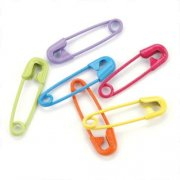 Mini Painted Safety Pins - Tropical 50 st