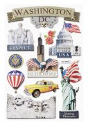 3D Stickers - USA