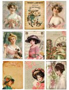 Vintage Foton A4 Reprint - Women & Flowers