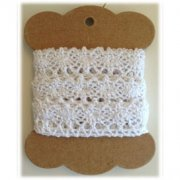Spets Reprint Cotton Lace 2m - White 20mm