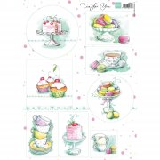 Marianne Design Topper Sheet A4 - Tea for you