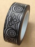 Washi Tape - Black Lace 10m