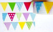 Washi Tape - Pennants 10m