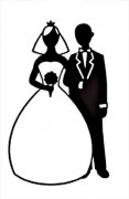 Embossing Folder - Bride/Groom