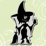 Stampendous - Cling Rubber Stamp - Witch Selfie