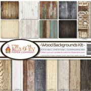 Paper Kit 12x12 - Ella & Viv - Wood Backgrounds