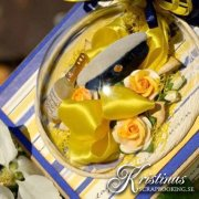 Satinband 24 mm - Lemon