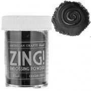 Embossingpulver Zing - Opaque Black
