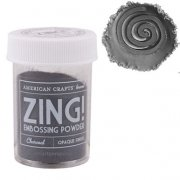 Embossingpulver Zing - Opaque Charcoal