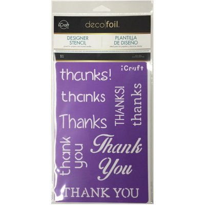 Deco Foil schablon - Thanks - 15.2x22.9 cm