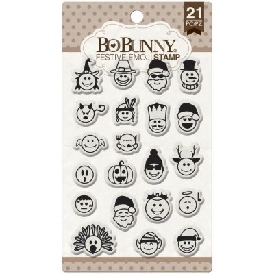 "Clear Stamps - Bo Bunny - Festive Emoji Essentials Stamps 4""X6"""