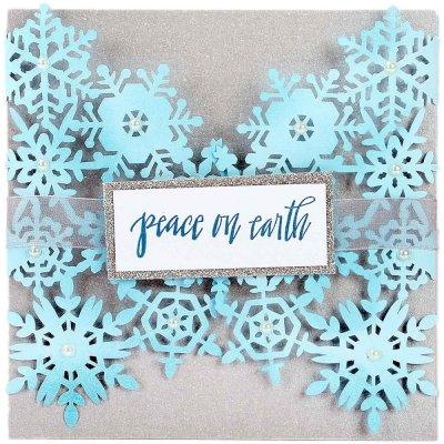 Sizzix Thinlits Dies - Snowflake Card - Tim Holtz