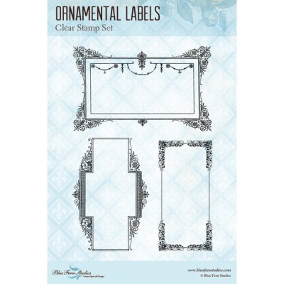 Clearstamps - Blue Fern Studios - Ornamental Labels