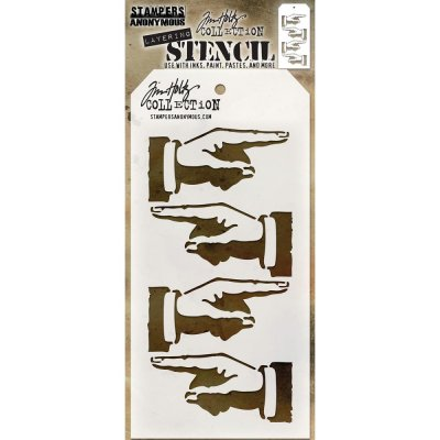 Schablon Tim Holtz - Direction