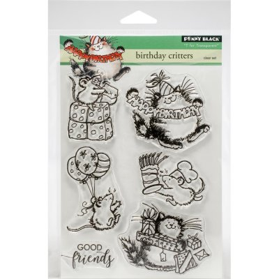Clearstamp Set - Penny Black - Birthday Critters