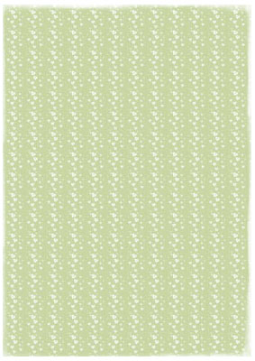 Papper A4 Basic - Lightgreen Hearts