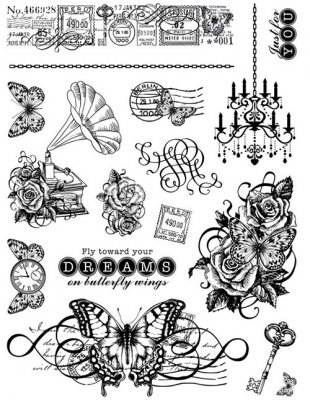 Clearstamps Kit - On Butterfly Wings - Hot Off the Press