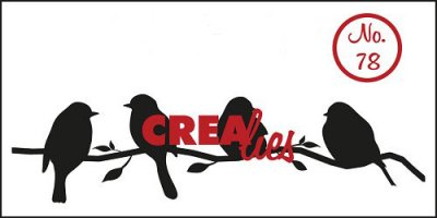 Clearstamp - Crealies - Bits & Pieces - no.78 - Birds on a branch