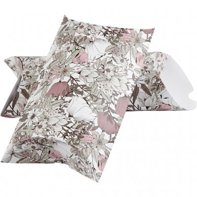Presentaskar Pillow Box 3 st - Vintage Flower - 24 x 15 cm