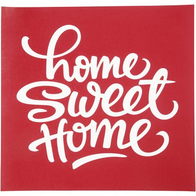 Screenstencil - Schablon - Home sweet home - 20x22 cm