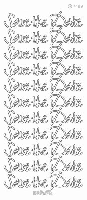 Stickers Save the Date