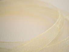 Utgår! Band Organza 7mm - Creme