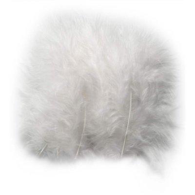 vita fjädrar på metervara