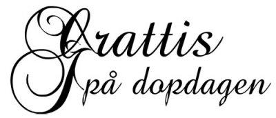 grattis på dopdagen text Stämpel   Grattis på dopdagen   Kristinas Scrapbooking   Kristinas  grattis på dopdagen text
