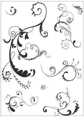 Clearstamps Set - Artemio - Arabesque