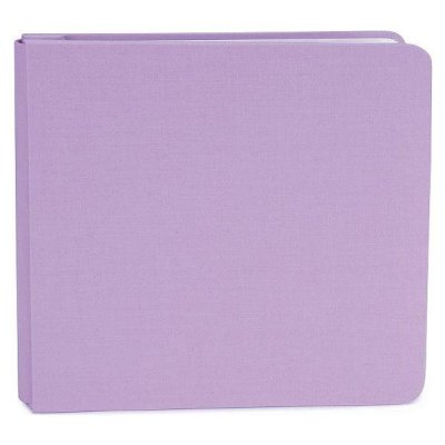 "Basic Scrapbook Album 8""x8"" - Fabric Lavender"