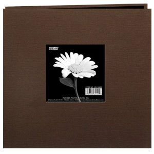 "Album 8""x8"" Pioneer - Book Cloth With Window - Brown"