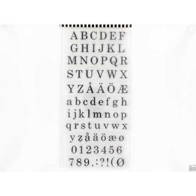Clearstamps YouDo - 10x20cm Alphabet and numbers