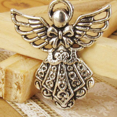 Charms 5 st - Holy Angel 26mm