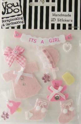 Stickers 3D - It's A Girl