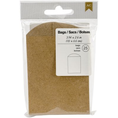Mini Bag 25-pack - Brun Kvist - 10 x 6,6 cm