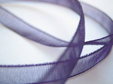 Band Organza 7mm - Aubergine