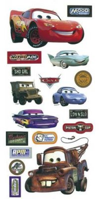 Disney Stickers 30 x 14 cm - Pixar Bilar - Cars
