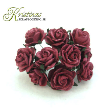 Mulberry Rose - 15 mm - Burgundy