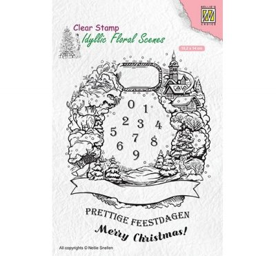 Clear Stamp Nellie Snellen - Christmas wreath