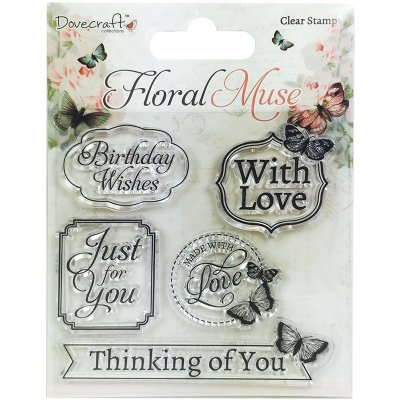 Clearstamps Dovecraft - Floral Muse - Sayings