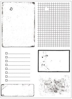 Clearstamps Set - Artemio - Old Paper Background