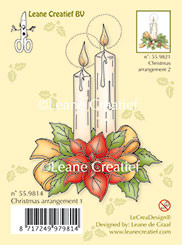 Clearstamps Leane Creatief - Christmas Arrangement 1 - With Ponsettia